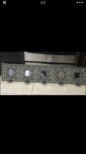 Mirrored and wood candle holder for Sale in Hialeah Gardens, FL