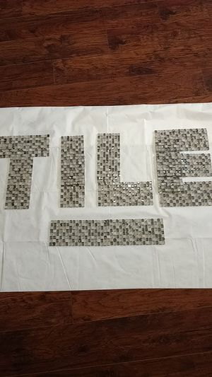 Glass mosaic tile gray / silver for Sale in Phoenix, AZ