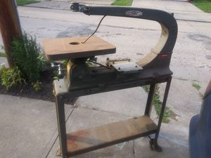 """1962--delta rockwell 24"""" scrollsaw no motor with stand for Sale in Cleveland, OH"""