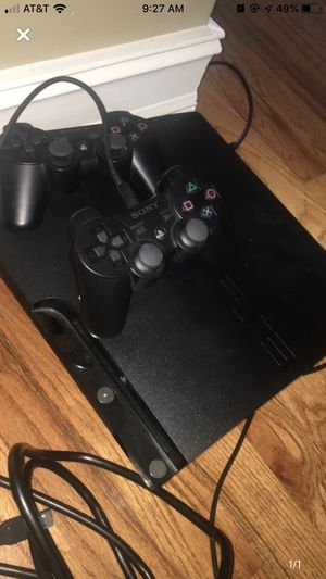 PS3 w/ two controllers for Sale in Douglasville, GA