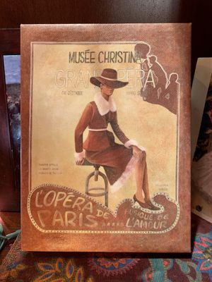 Musée Christina L'Opéra De Paris Musique De L'amour French Retro Canvas Print for Sale in Nashville, TN