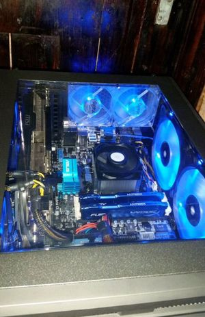Custom built pc 4gb video graphics card 12gb ddr3 hyperfury ram 6 core amd processors fx6300 for Sale in Dallas, TX