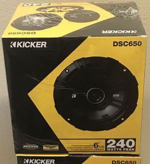 """New KICKER 6.5"""" inch 240 Watts Car Audio Speakers (pair) 🔥🔊 for Sale in Hemet, CA"""