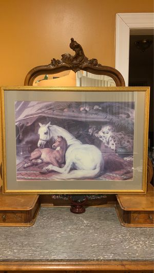 Painting: The Arab Tent by Sir Edwin Henry Landseer, 1866. for Sale in Wilmington, DE