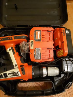Firestorm drill with battery and dual battery charger for Sale in La Grange, NC