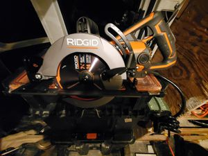 Ridgid tools, drill, Impact wrench, circular saw, grinder, radio.and air compressor for Sale in Adelphi, MD