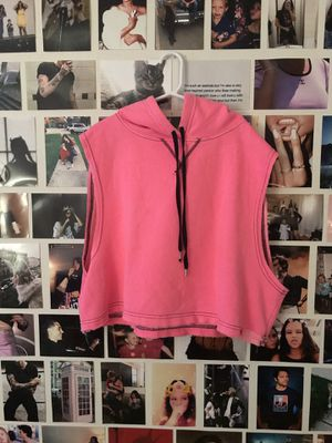 Pink cropped sleeveless hoodie for Sale in West Palm Beach, FL
