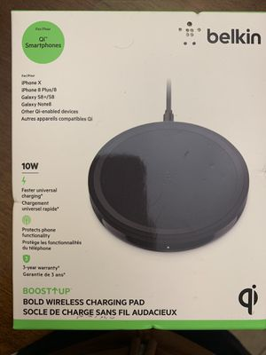 Belkin Boost Up Wireless Charging Pad 10W for Sale in Woodbridge Township, NJ