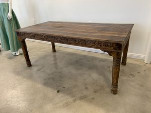 Antique Hand Carved Wood Table for Sale in Phoenix, AZ