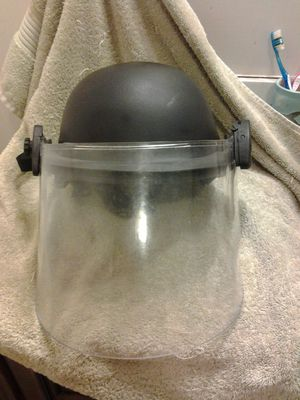 Update Reduced ! Rare Ballistic Helmet w/ Visor Mint. Authentic, Rare. for Sale in East Providence, RI