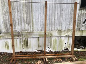 Large wood clothing rack for Sale in Ledbetter, KY