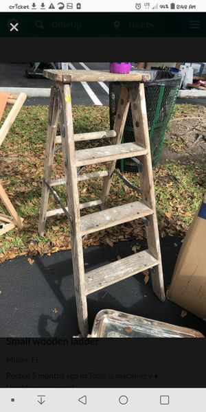 Real wooden step ladder for Sale in Fenton, MO