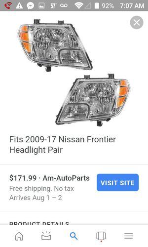Nissan frontier headlight assembly set for Sale in Columbus, OH