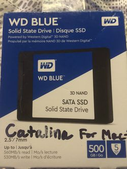 Western Digital 500gig Solid State Drive With Mac iOS Catalina On It for Sale in Seattle,  WA