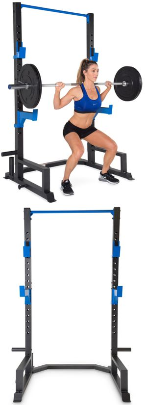 Brand New in Box Deluxe Half Power Cage 3x3 Powder Coated Squat Rack for Sale in Rancho Cucamonga, CA