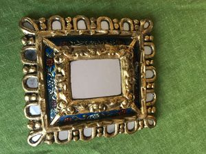 Decorative Italian mirror 7 inches wide by 8 inches tall for Sale in West Palm Beach, FL
