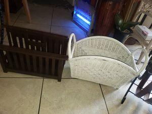 ASSORTED MAGAZINE RACKS read details for Sale in Boca Raton, FL