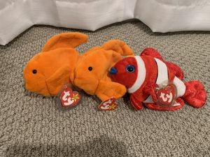 "Beanie baby fish ""Goldie"" x2 and ""jester"" for Sale in Menifee, CA"