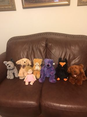 "$8 Valentine Stuffed Animals To Give For Valentine's Day. Choose Yours They Are All 10"" long All are Brand Ty except for brown dog on right end, he for Sale in Murfreesboro, TN"