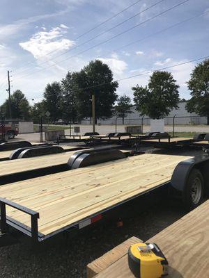 7x20 Car Hauler Trailer 7,000lb capacity 1 Brake for Sale in Hiram, GA