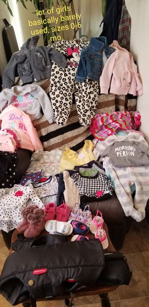 Baby girl clothes & carrier lot for Sale in Bellingham, WA