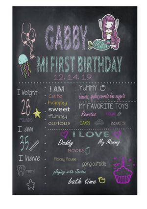 Birthday Chalkboard Sign Personalized for Sale in Corona, CA