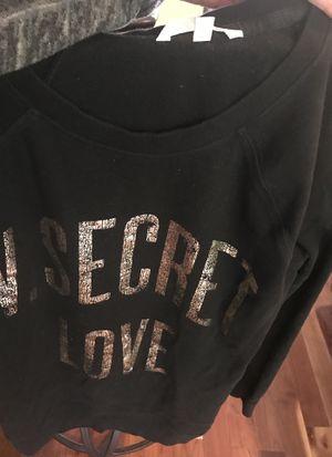 Victoria secret black sweatshirt size small slender for Sale in Gig Harbor, WA