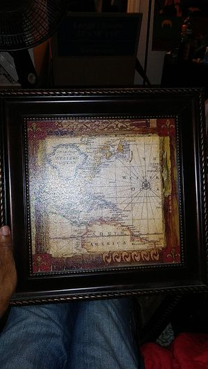 """16""""x16"""" nautical map painting for Sale in Chandler, AZ"""