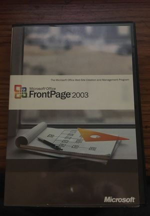 Microsoft office frontpage 2003 full retail oem with key for Sale in Santa Maria, CA