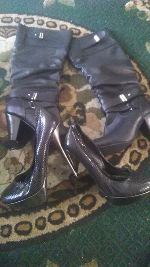 Women's boots in heels size 8 1/2 for Sale in Portland, OR