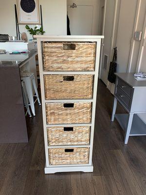 Pottery Barn Wicker Basket Storage/Dresser for Sale in Washington, DC