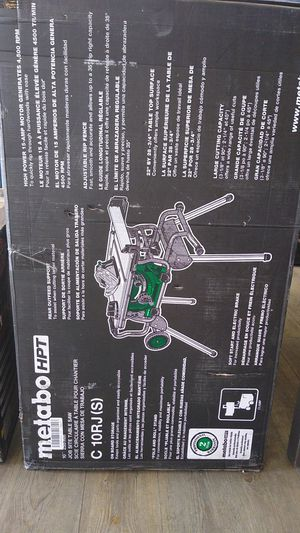 METABO HTP (HITACHI) 10-in Carbide-Tipped Blade 15-Amp Table Saw for Sale in Phoenix, AZ