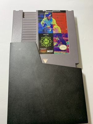 Bo Jackson Baseball Nintendo NES Authentic OEM Game Cartridge & Manual - Tested. A1 for Sale in Glendale, AZ