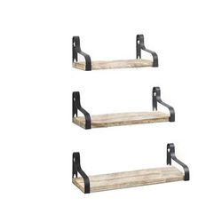 Rustic Wood Wall Storage Floating Shelves - Set of 3 for Sale in Kent,  WA