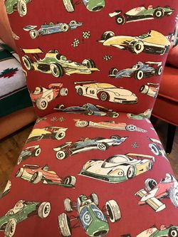 Cool Race Car Fabric Chair- Great Condition for Sale in Des Moines,  WA