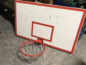 Regulation dimensions basketball hoop and backboard with net. for Sale in Montclair, CA
