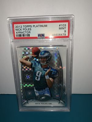 Nick FOLES rookie card 🔥 🏈 🔥🏈🔥 PSA 9 for Sale in Langhorne, PA