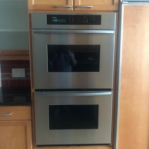 for sale two-door refrigerator sub zero brand, Thermador brand 2 oven combo, whirlpool dishwasher, General Electric microwave. for Sale in Miami, FL