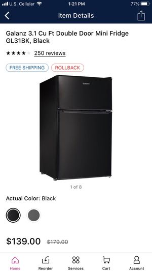 Galanz 3.1 Cu Ft Double Door Mini Fridge for Sale in Kodak, TN