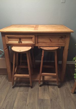 Solid Raw Oakwood Kitchen table for Sale in Arlington, TX