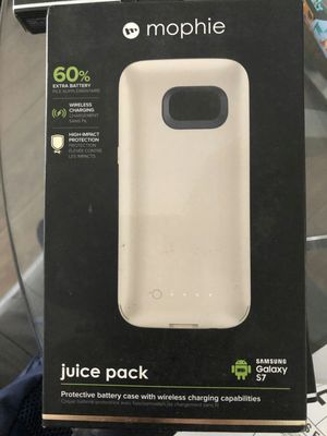Brand new Mophie juice pack charging charger battery case galaxy s7 for Sale in Davie, FL