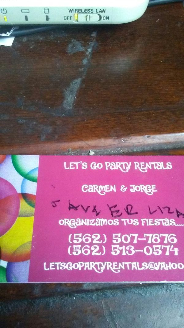 Let's go party rentals