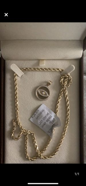 10k gold necklace with 10k gold charm for Sale in White Marsh, MD