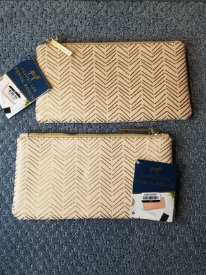 2 pink and gold fabric pencil bags for Sale in Lexington, KY