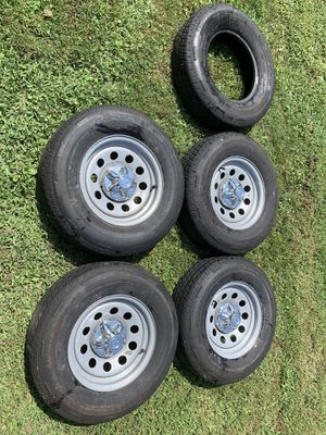5 like new camper Trailer tires/ rims for Sale in Riverdale, MD