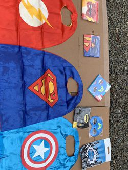 Heavy Futu Kids Super Heroe Capes And Masks $5 Per kit Of 4 for Sale in Union City,  CA