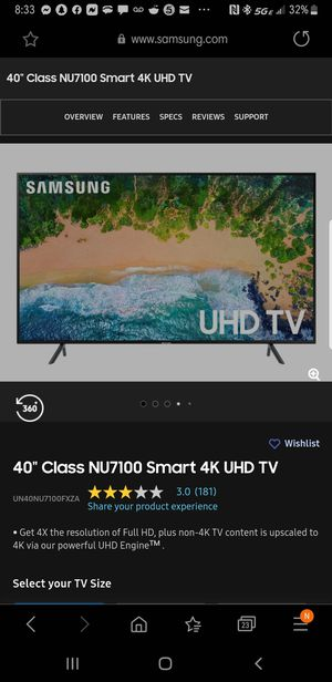 New samsung 40 inch TV for Sale in Portsmouth, VA