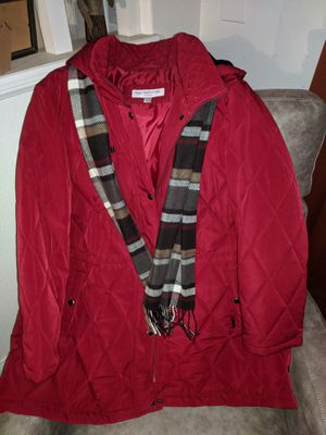 New! Liz Claiborne Burgundy wine Silky Soft Comfy Jacket. Fully lined in silky soft fabric. Big roomy pockets. Zipper &/or snap closure. Women's 2x for Sale in Perris, CA