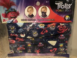 NEW Trolls World Tour - kids neck gaiter for Sale in South Windsor, CT