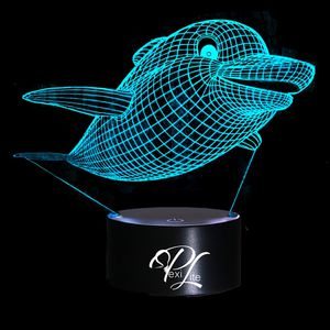 3D Illusion Night Light Baby Dolphin 7 Color Change Table Lamp for Sale in Las Vegas, NV